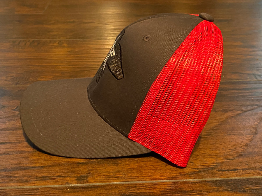 S.J. Trucker Hat (charcoal/red)