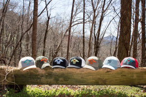 S.J. Trucker Hat (grey, OR Green,Orange)