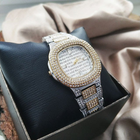 xcluslay gloria cheap luxury watch front side silver x gold