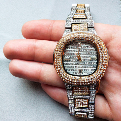 xcluslay Gloria watch silver x gold