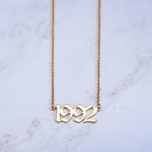 Custom year necklace