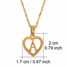 Load image into Gallery viewer, Heart Initial Necklace