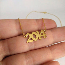 Load image into Gallery viewer, Custom year necklace