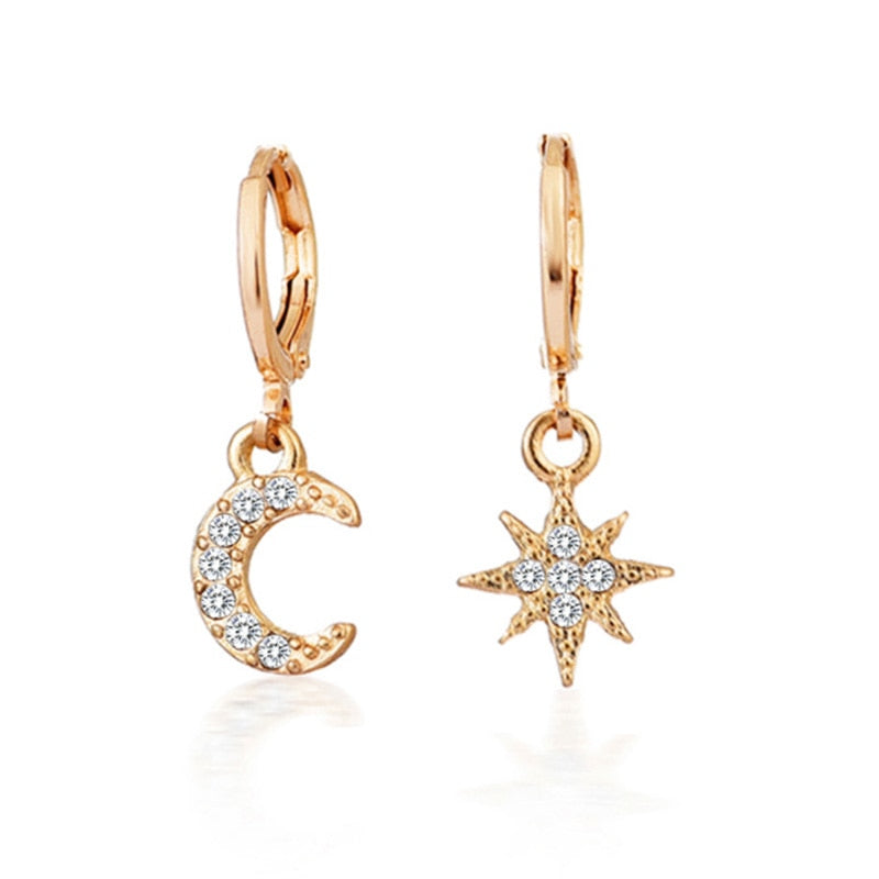 Star Moon Pattern Earrings