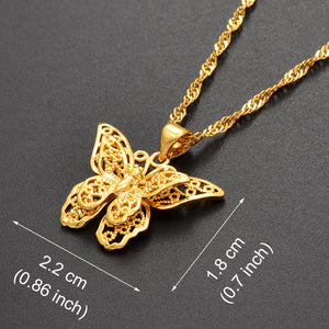Butterfly Pendant Necklaces - xcluslay