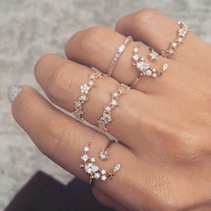 5 Pcs Galaxy ring set - xcluslay