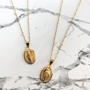 Virgin Mary Pendant Necklace - xcluslay