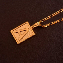 Load image into Gallery viewer, Xcluslay Box Letter Necklace - xcluslay