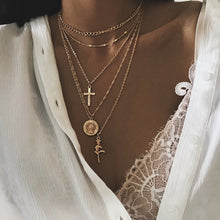 Load image into Gallery viewer, Charm Gold Color Chokers Necklace - xcluslay