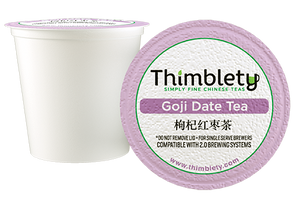 Chinese Goji Date Tea 12 Pack - 12 Tea Pods, brew 2 cups per pod