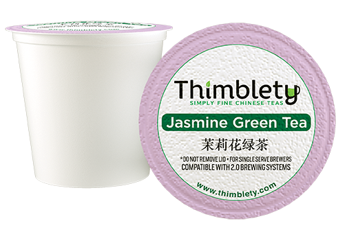 Jasmine Green Tea - 12 Tea Pods, brew 2 cups per pod