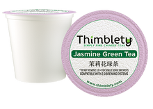 Load image into Gallery viewer, Jasmine Green Tea - 12 Tea Pods, brew 2 cups per pod