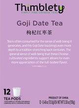 Load image into Gallery viewer, Chinese Goji Date Tea 12 Pack - 12 Tea Pods, brew 2 cups per pod