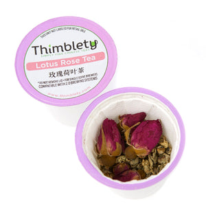 Chinese Lotus Rose Tea - 12 Tea Pods, brew 2 cups per pod