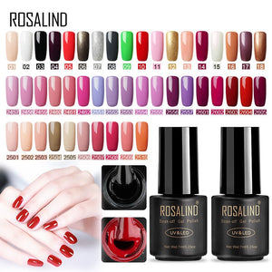 ROSALIND Nail Polish Set Gel Varnish Gelish Nail Polish All For Manicure Base Coat