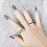 Almond  Fake Nails DIY Solid Color Jump Color DIY Nail Art