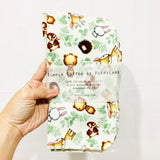 6pc/set : unpapersg Cloth Napkins /  reusable kitchen towels (Forest Friends)