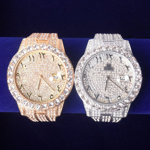 Craneur Iced Out Arabic Numbers Watch
