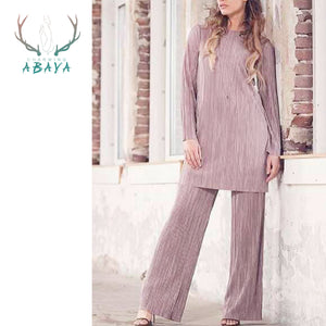 Soft Pleated Material Malaysia Abaya For Islamic Women Clothing 2019 New Arrival