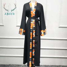 Load image into Gallery viewer, Printing Cardigan Simple Style  Confortable Islamic Clothing  Dubai Abaya Malays Muslim Woman Abaya