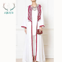 Load image into Gallery viewer, Soft Crepe Arabic White Dubai Islamic Clothing Muslim Cardigan Abaya New Arrival