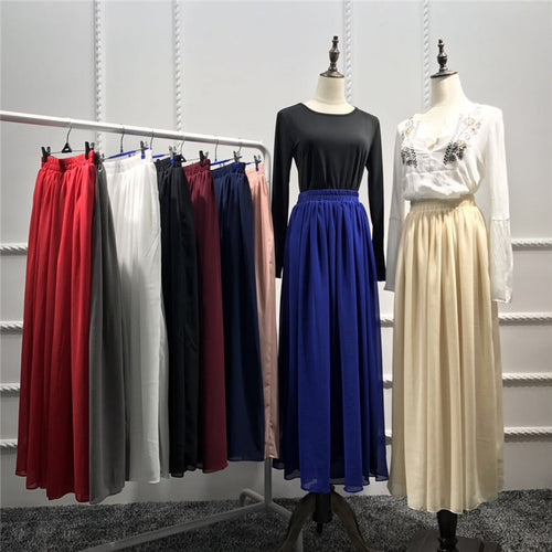 Long Half Skirt Chiffon Skirts Fashion Design New Arrival  Muslim Women