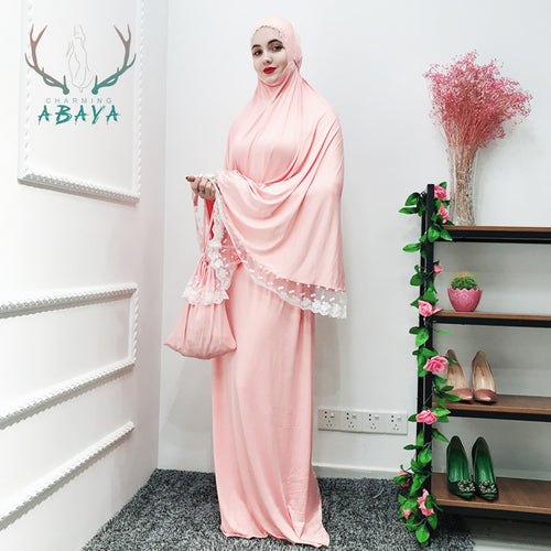 Prayer Long Dress Skirt-Set Abaya Islamic Muslim