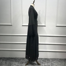 Load image into Gallery viewer, High Grade Black Cardigan Dubai  Abaya Kimono For Muslim Women