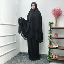 Load image into Gallery viewer, Robes Lace Skirts Scarf Tops Big-Swing Prayer 2019 Muslim Abaya