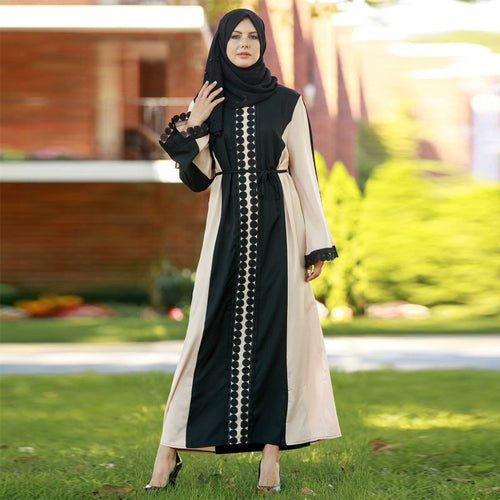 Morden Design Islamic Clothing Duabi Women Abaya Maxi Dress