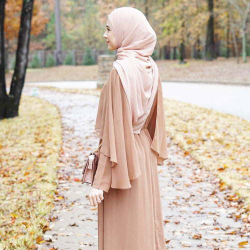 Crepe Abaya Cloak DesignTurkish Fashion Women Clothing Confortable Islamic Women Clothing
