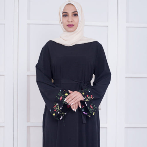 Embroidery Black  Abaya  Islamic Women Clothing New Arrival Excellent Quality