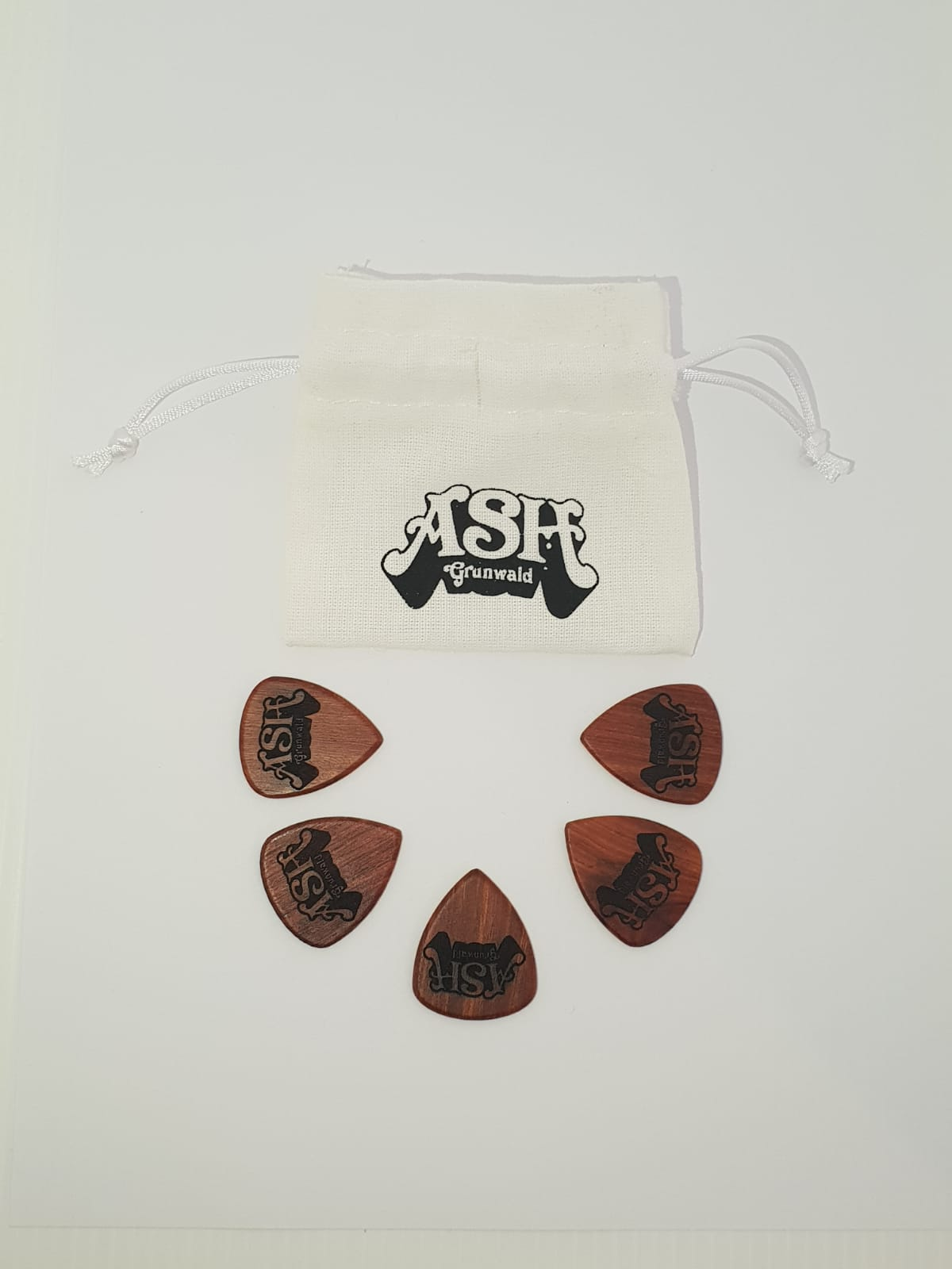Ash Grunwald -Wooden Guitar Picks - 5 pack