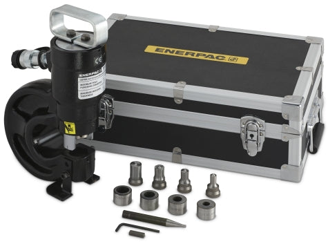 ENERPAC SP-35S - 35 TON PUNCH, W/ 4 PUNCH & DIE SETS