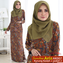 Load image into Gallery viewer, Aela Baju Kurung Kedah Ironless AK007