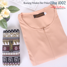 Load image into Gallery viewer, Baju Kurung Moden Plain Isha I002