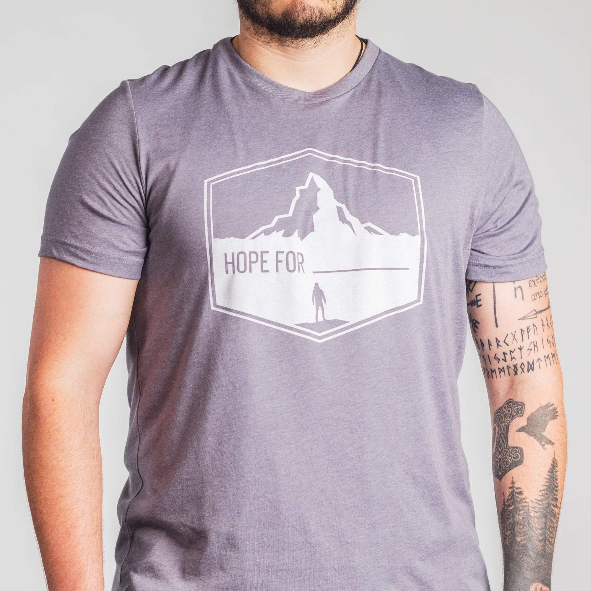 Hope For - Short Sleeve Shirt - Heather Storm