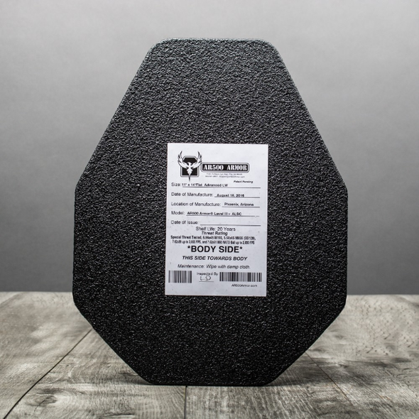 "AR500 Armor® Level III+ Lightweight ALSC Body Armor 11"" x 14"""