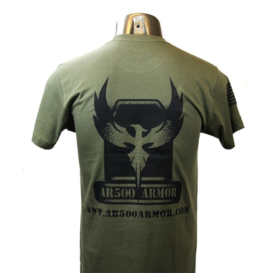 AR500 Armor® Men's T-Shirt - Olive/Black