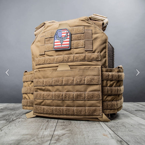 AR500 Coyote Brown Armor® Testudo™ Plate Carrier - Gen 2