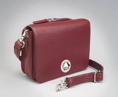 Conceal Carry Purse GTM-15 Cross Body Organizer by Gun Tote'n Mamas in leather colors of Red Leather.