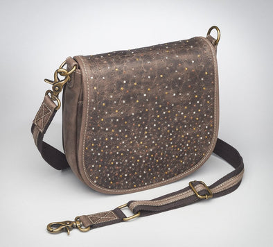 Conceal Carry Purse GTM/CZY-16 Simple Bling Distressed Buffalo Pouch by Gun Tote'n Mamas.