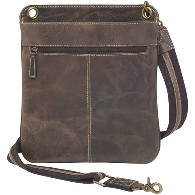 GTM/CZY-01 Vintage Cross Body by Gun Tote'n Mamas in distressed brown buffalo leather.
