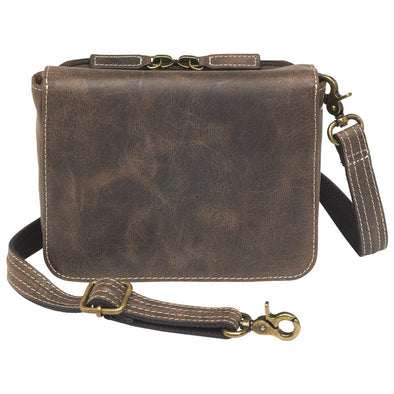 GTM/CZY-15 Distressed Buffalo Leather Cross Body Organizer
