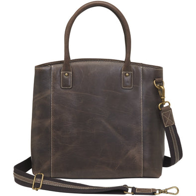 Conceal Carry Purse GTM/CZY-51 Distressed Buffalo Leather Town Tote by Gun Tote'n Mamas.