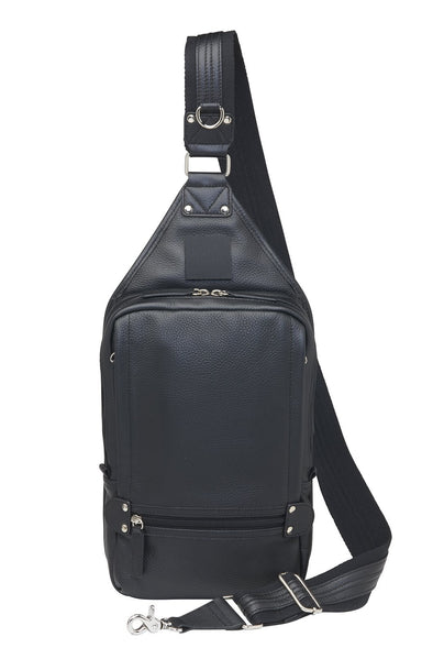 Conceal Carry Purse Sling Backpack GTM-108 by Gun Tote'n Mamas in soft black leather.