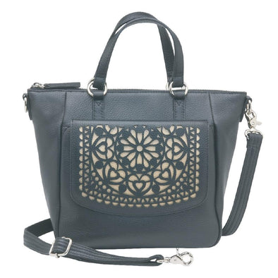 Conceal Carry Purse 4-in-1 Crossbody Purse GTM-100  by Gun Tote'n Mamas in black leather.