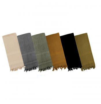 Shemagh Scarves -Tan, Grey, Foliage Green, Olive Drab, Coyote Brown, Black, Navy Blue