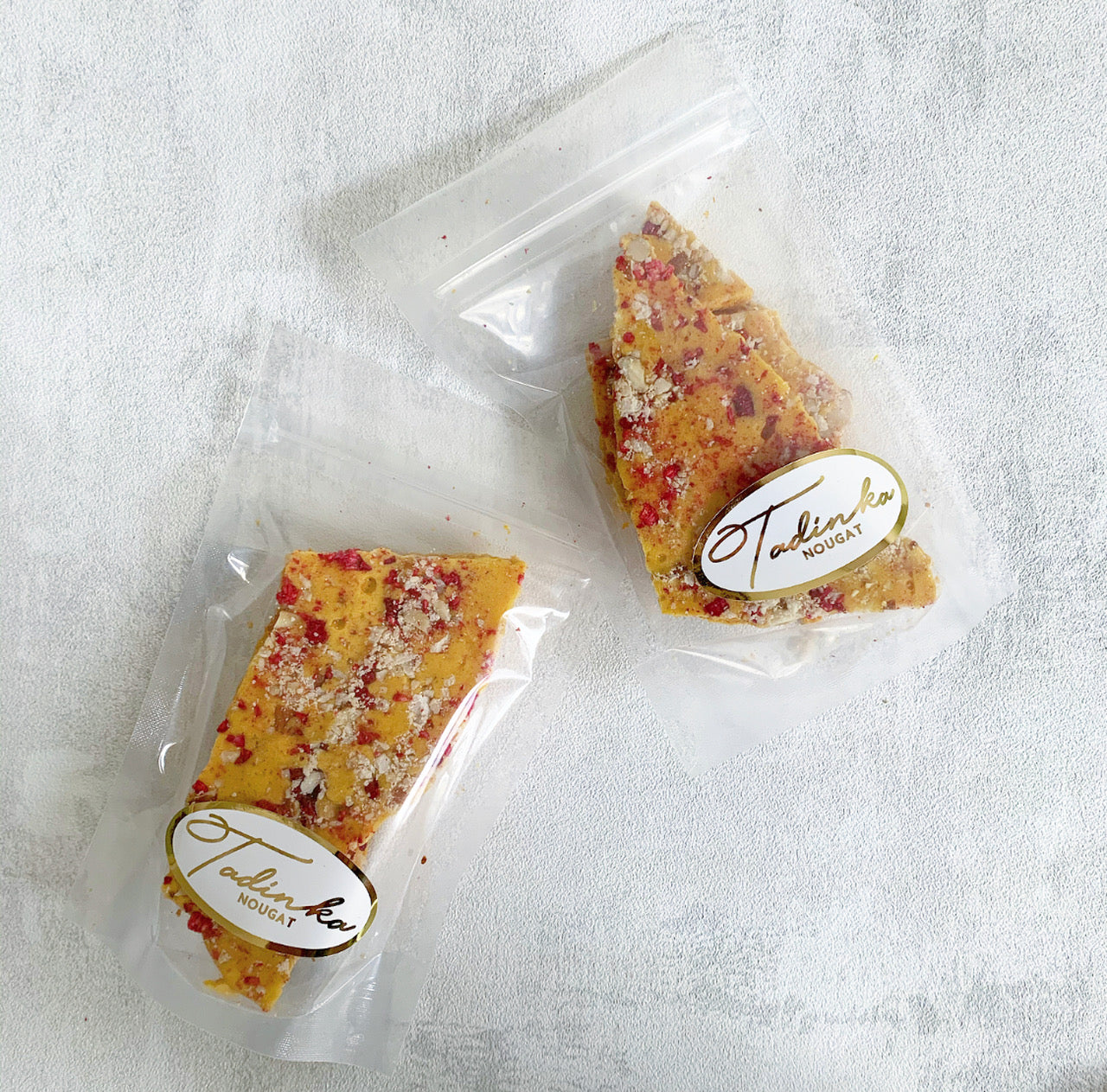 Zingy Raspberry Honeycomb by Tadinka Nougat