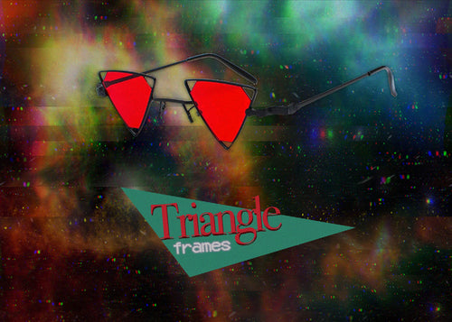 Triangle Frame Glasses (frame & lens color options)
